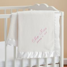 New Baby Girl Personalized Cream Baby Blanket - Newborn - Baby | Personalized Planet