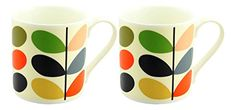2 x Orla Kiely Quite Big Linear Stem Mugs - Multi Orla Kiely, Mugs, Amazon, Tableware, Kitchen, Amazons, Dinnerware, Cooking, Riding Habit