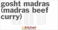 Gosht Madras (Madras Beef Curry) | CDKitchen.com