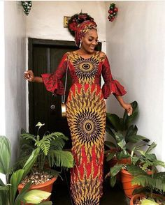 African print dress with bell sleeves plus FREE head wrap/Ankara/African Clothing/African Fashion/Ankara Clothing/Cut out/kente African Fashion Ankara, Latest African Fashion Dresses, African Dresses For Women, African Print Fashion, African Attire, African Women, Africa Fashion, African Outfits, African Party Dresses