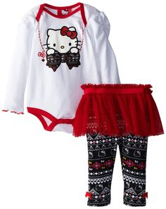 Amazon.com: Hello Kitty Baby-Girls Newborn Legging Set 2 Piece Tutu Full Length, Bright White, 3-6 Months: Clothing