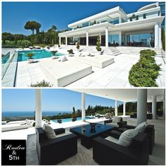 This beautiful contemporary villa is situated in, without question, the best address in Marbella, Sierra Blanca. Due to its elevated position it has stunning panoramic sea views from the Marbella coastline to Gibraltar and Africa beyond. #rodeoand5th #luxury #homes #villa #design #decor #view
