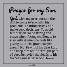 Prayer: For My Son – Prayables