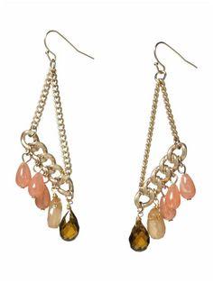 Carnelian chandelier earrings