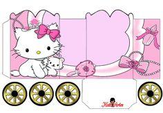 Hello Kitty: Caja con forma de Carruaje para Imprimir Gratis. | Ideas y material gratis para fiestas y celebraciones Oh My Fiesta!