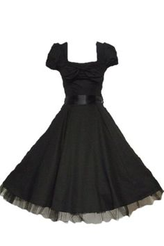 black vintage style dress