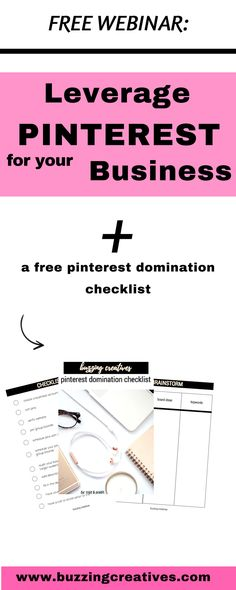 How to leverage pinterest for your business - systems and strategies to grow your business with pinterest #pinforgrowth #buzzingcreatives
