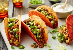 Get big, bold beef and chile flavor fast with these fun weeknight tacos.
