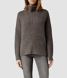 Womens Penryn Sweater (Fawn Marl) - product_image_alt_text_1