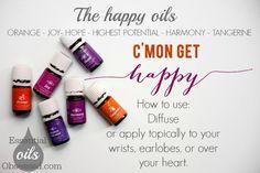 Happy Oils...Orange, Joy, Hope, Highest Potential, Harmony and Tangerine! To get your oils-->www.aprilmasterson.com/order-oils