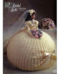 La muñeca de novia Belle colección Miss June moda Crochet patrón Annies Attic