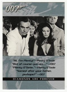 James Bond - The Quotable # 8 - Diamonds Are Forever