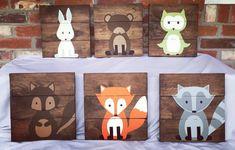 Suchen Sie das perfekte Waldland Dekor? Nun suchen Sie nicht weiter diese Zeichen sind toll! Es ist ein Bär, Fuchs, Eule, Hase, Eichhörnchen und Waschbären Zeichen. Aber wenn Sie möchten verschiedene Tiere biete ich auch einen Skunk, Biber und Elch auch. Diese Zeichen werden von
