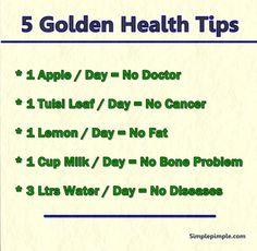 5 Golden Health Tips