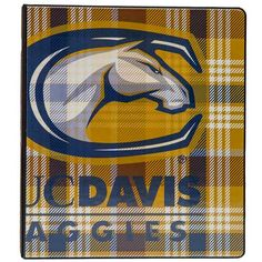 UC Davis plaid binder...definitely not your parents binder!  The back is AWESOME...click the photo to see the back!  Buy it at the UCD Bookstore!