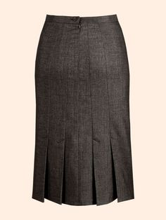 HP l Gored Skirts - draft double darts into seams with kick pleats, full CB seam with zip.  LOVE THIS!