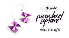 Origami Earrings Tutorial ★ Pinwheel Squares ★ DIY ★ Paper Kawaii