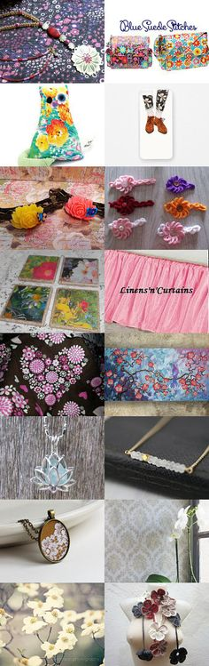 Flowers Blooming in Moonlight -06- by Erinn LaMattery on Etsy--Pinned with TreasuryPin.com