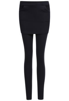 Shop Black Slim Pockets Bodycon Skirt Leggings online. Sheinside offers Black Slim Pockets Bodycon Skirt Leggings & more to fit your fashionable needs. Free Shipping Worldwide!