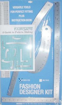 Fairgate Pattern Making Ruler Kit by Vogue Fabrics.Fairgate Pattern Making Ruler Kit has the most basic and important metal rulers for fashion design, & pattern making. Included in this kit you get the instruction book on how to make patterns. Making 10, Sewing Hacks, Sewing Tutorials, Sewing Tips, Learn Sewing, Sewing Crafts, Sewing Patterns Free, Free Sewing, Clothes Patterns