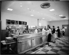 Bernhard Center cafeteria circa 1958 (WMU Archives) Western Michigan University, Liquor Cabinet, Home Decor, Student, Decoration Home, Room Decor, Home Interior Design, Home Decoration, Interior Design