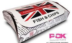 The Liverpool City Council wants to ban customers from eating fish and chips wrapped in paper packaging Takeaway Packaging, Chip Packaging, Smart Packaging, Food Packaging Design, Packaging Solutions, Paper Packaging, Beverage Packaging, Fish And Chips Takeaway, Food Pillows