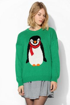 Coincidence & Chance Holiday Penguin Sweater #urbanoutfitters