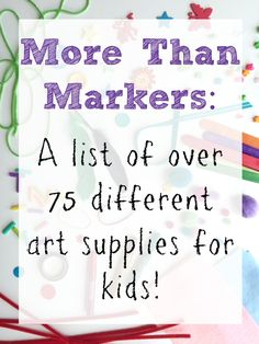 Bet you haven't thought to use all of these! Makes craft time a lot more fun!