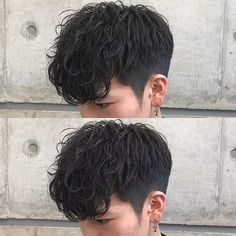 Haircuts For Wavy Hair, Cool Short Hairstyles, Permed Hairstyles, Perm Hair Men, Wavy Hair Men, Cut My Hair, Hair Cuts, Asian Men Hairstyle, Asian Hair Men