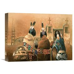 Mission Trio By James Lee, 16 X 12-Inch Wall Art