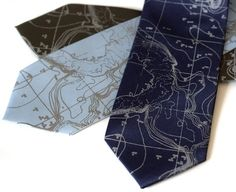 Nautical chart ties on Etsy