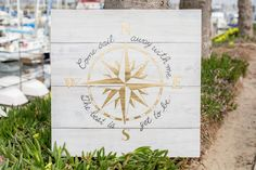 This signage would be such a pretty nautical addition to your seaside affair. Little details like this make your wedding unforgettable!