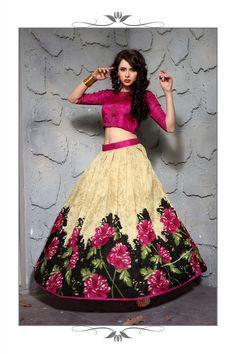 New Multi Color Designer Printed Lehnga Choli