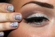 Glitter nails and lid