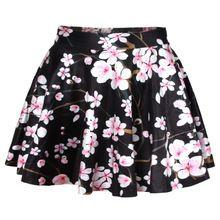 ❤Kawaii Love❤ ~3d skirts ropa mujer lady cherry short saias femininas formal faldas mujer vintage saia plissada kawaii clothes(China (Mainland))
