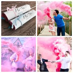 #1 Gender Reveal Smoke Fountains on a Stick