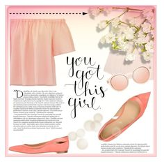 """""""Your got this"""" by elisapar ❤ liked on Polyvore featuring Sergio Rossi, Rebecca Taylor, Ballet Beautiful and Balmain"""