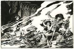 Mark Schultz CONAN Cover for Dark Horse COLOSSAL CONAN Comic Art