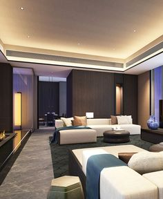 SCDA Hotel & Mixed-Use Development, Nanjing, China- Presidential Suite Living Room