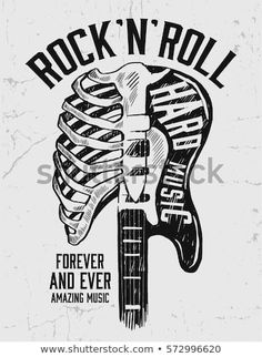 Rock and Roll sign. Slogan graphic for t shirt Rock festival poster. Rock and Roll sign. Slogan graphic for t shirt Rock Roll, Rock And Roll Sign, T-shirt Rock, Pop Rock, Rock Sign, Rock Tattoo, Rock And Roll Tattoo, Rockband Logos, Hard Rock