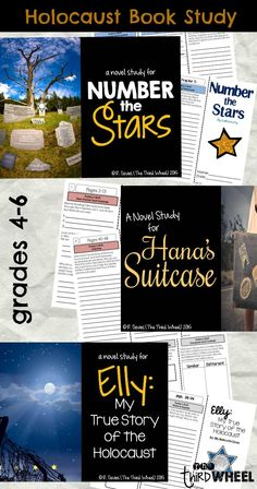 Teaching about the Holocaust? Need to build reading comprehension at the same time? Use these three novel studies to create a themed student book club on the Holocaust. Each story takes a different lens on Holocaust and provides students with the opportunity to work together and discuss their reading.