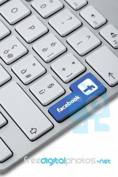 Facebook Button Stock Photo