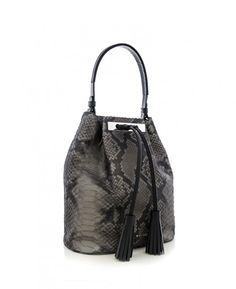 YV 8226 NEGRU ARGINTIU ANACONDA SLALOM SI NAPPA Anaconda, Bags, Handbags, Bag, Green Anaconda, Totes, Hand Bags