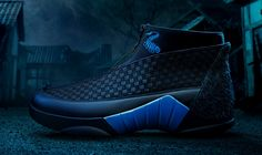 de114d4a2a90 Side view of the blue Kubo Air Jordan 15 Jordan Sneakers