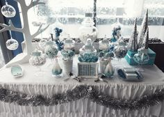 blue & white winter wonderland