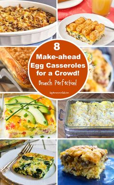 These make-ahead egg breakfast casserole recipes are going on my meal plans for the next few weekends!