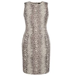 David Lawrence | New Arrivals - Snake Jacquard Fitted Side Panel Bodycon Dress