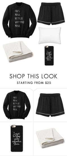 """""""Laying In Bed Reading, Watchung YouTube, And Snuggling With My Blankets Lol"""" by softballgirl011 ❤ liked on Polyvore featuring Asceno, Casetify, Lexington and L.L.Bean"""