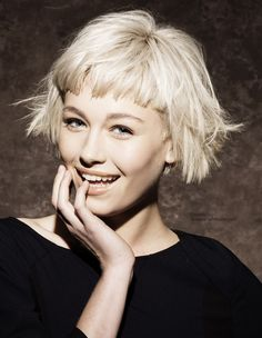 short hair with short fringe - Google Search