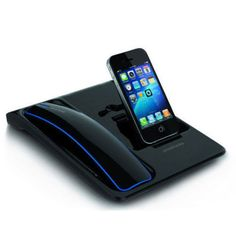 Wireless Bluetooth Cordless Phone Desktop Cradle Charger For IPhone 4/5  Samsung